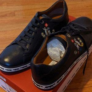 "Bally ""Animal Alpistar"" Leather Fashion Sneakers"